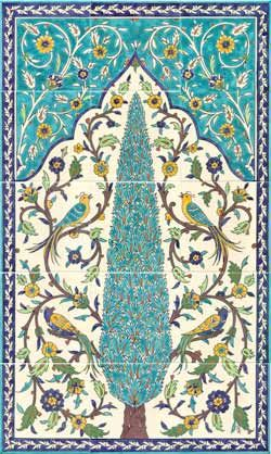 Birds of paradise tile mural