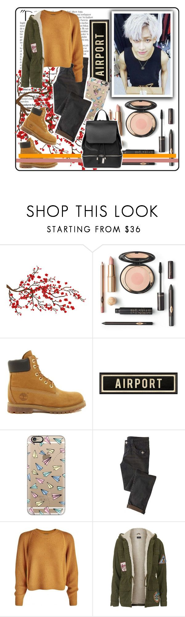 """""""280. BamBam / Kunpimook Bhuwakul"""" by staycloudyornah ❤ liked on Polyvore featuring Balmain, Brewster Home Fashions, Timberland, Casetify, Topshop and COSTUME NATIONAL"""