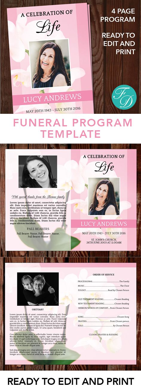 287 best Funeral Programs for Women Programs \ Prayer Cards - funeral template download