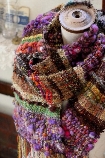 rigid heddle saori weavings.