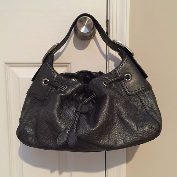 "party saleCole Haan purse-like new Authentic Cole Haan purse, excellent like-new condition. No signs of wear. Soft, dark gray pebbled leather. Interior super clean. Measures approximate 14.5""x8"" Cole Haan Bags"