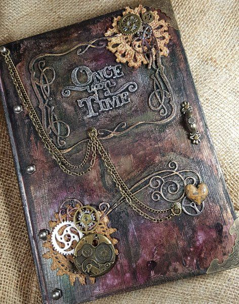 Tutorial of the Month: Steampunk Book Cover - ButterBeeScraps