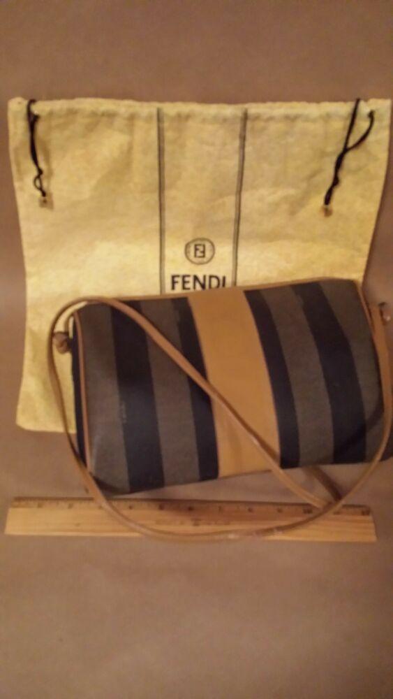 Vintage Fendi Shoulder Crossbody Bag Wide Stripes Black and Caramel  fashion   clothing  shoes  accessories  womensbagshandbags (ebay link) f2a752a0c485c