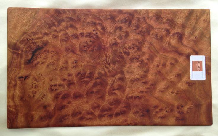 Camphor burl wood cutting board:  51 cm x 30cm x 1cm