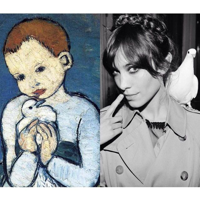 """Mi piace"": 1,902, commenti: 53 - Art-lexa Chung (@artlexachung) su Instagram: """"Child With Dove"" by Pablo #Picasso (1901) / Alexa Chung for @majeofficiel."""