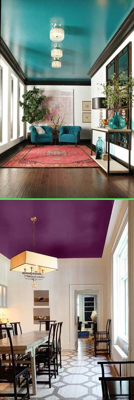#19. Accent ceilings are the new accent walls.