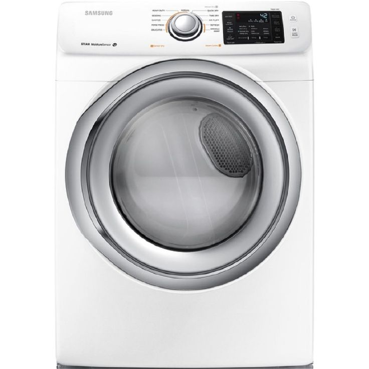 Samsung 7.5-cu ft Stackable Gas Dryer with Steam Cycle (White)