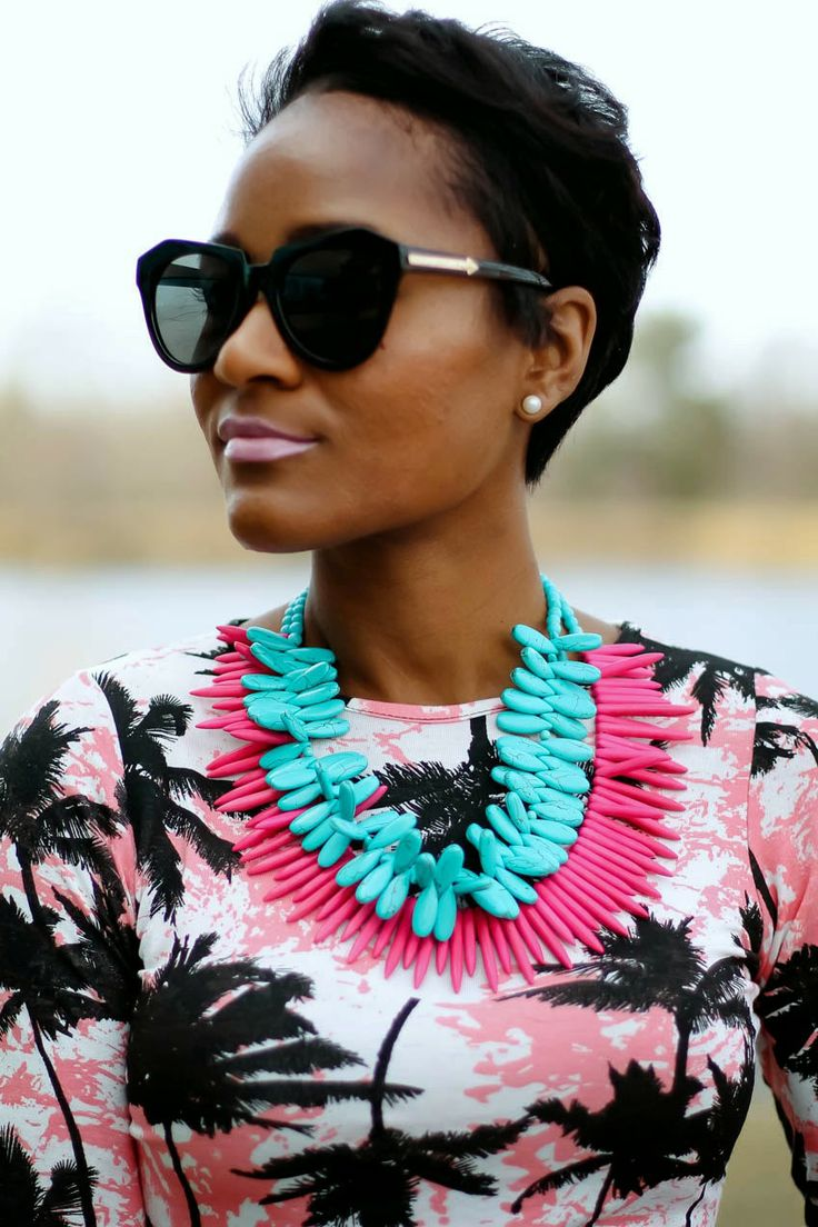 Stacked Colorful Tribal NecklacesFancy Style, Charms Style, Fashion Blogs, Design Wear, Design Fashion, Beach, African Style, Accessories, Daileigh
