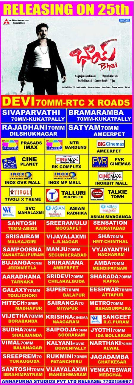 Bhai Hyderabad Theaters List