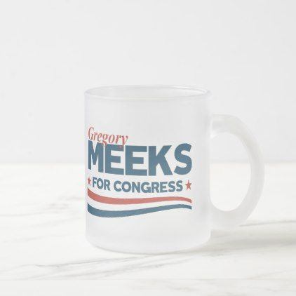 #Gregory Meeks Frosted Glass Coffee Mug - #office #gifts #giftideas #business