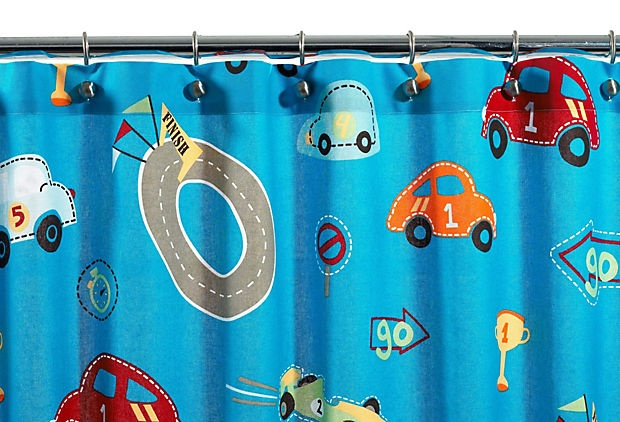 Race Track Shower Curtain, Blue  $22.00