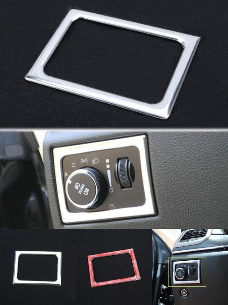 [Visit to Buy] BBQ@FUKA Car Front Headlight Switch Frame Trim Cover Styling Sticker Stainless Steel Fit For Jeep Grand Cherokee 2011 -2015  #Advertisement