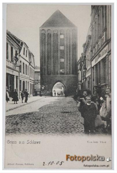 Pocztówka wysłana w 1905 roku. - Cösliner Thor