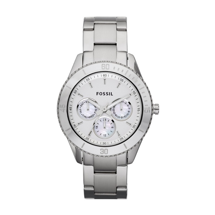Stella Stainless Steel Watch ES3052 | FOSSIL® $105. Also want.