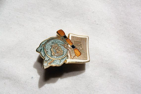 Vintage Crafters Pin with Embroider Floss and Cross Stitch by IntoTheWardrobe, $5.00