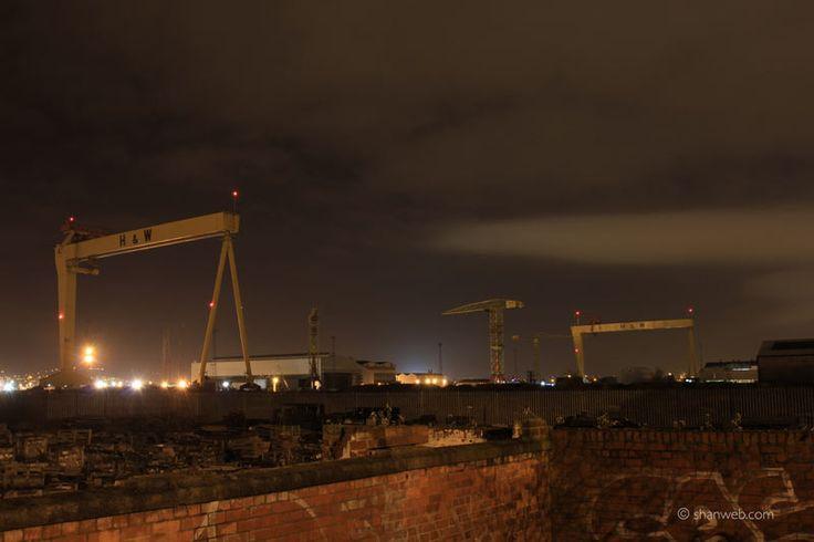 Harland & Wolff Cranes - Samson and Goliath - Belfast Docks, Northern Ireland