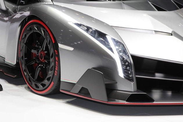 Lamborghini Veneno Best Sports cars top 2013 sports cars  Transmission: 7-speed ISR auto  Engine: 6.5 liter V-12  Horsepower: 740  Hybrid system power: None  Total power: 740  Standard wheels: 20-inch front, 21 rear  Standard tires: Pirelli P-Zero  0-62 mph time: 2.8 seconds  Top speed: 221 mph  Weight (lbs.): 3,190  Chassis: Carbon fiber  Price: $4 million  Total production: 3 (white, red, green)  lamborghini for sale used lamborghini for sale lamborghini prices lamborghini lamborghini…