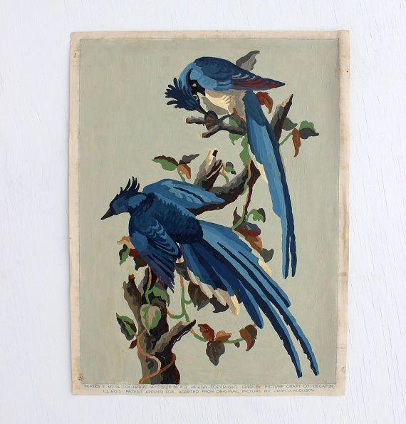 Pintura por número cartel Blue Jays: Audubon ave por PivotHandmade