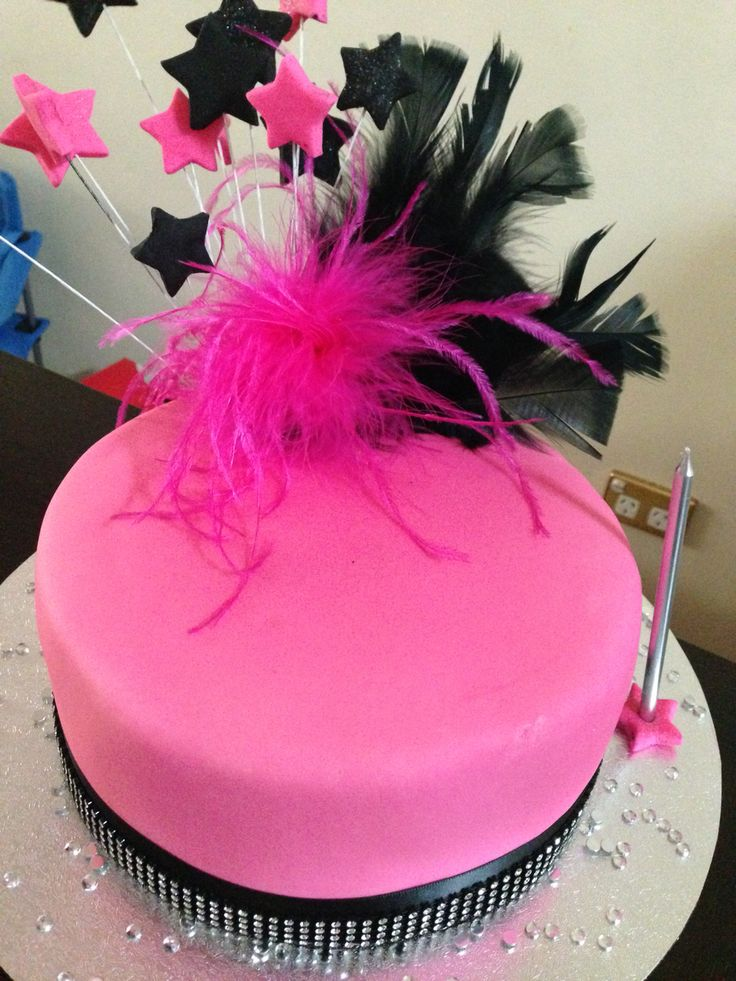 Pink & Black Bling Cake