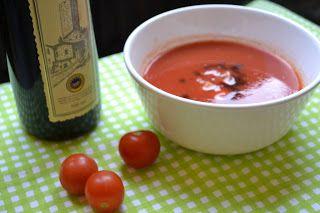 Vypečená polievka z rajčín