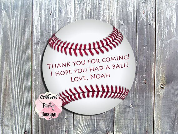 Hey, I found this really awesome Etsy listing at https://www.etsy.com/listing/186666896/baseball-party-favor-tags-or-labels