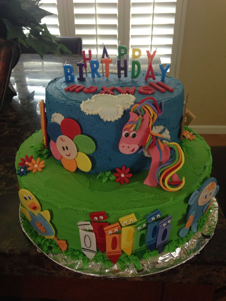 17 best images about birthday cakes by you for Baby tv birthday decoration