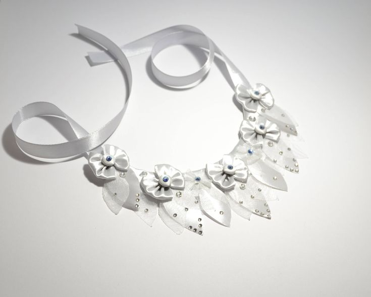Ice collection fantasy collar necklace with Swarovski crystals
