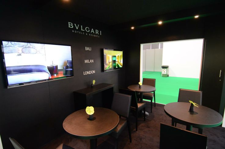 Design & installation of trade show booth for Bulgari at ATM Dubai 2013 by Elevations UK.