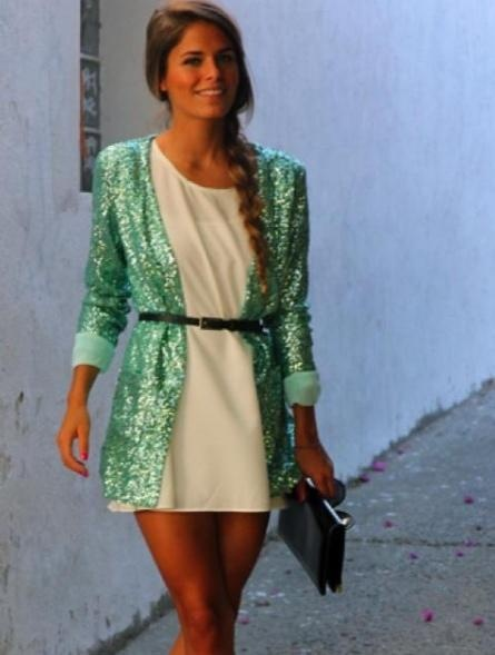 Belted sequin cardigan! I just fell in love.