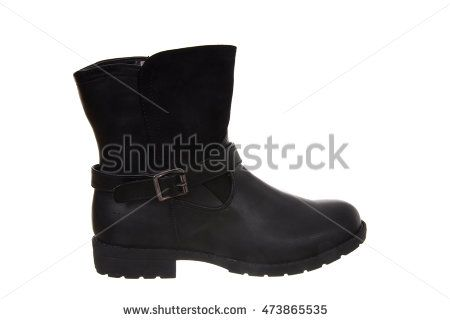 Woman boot isolated on white background