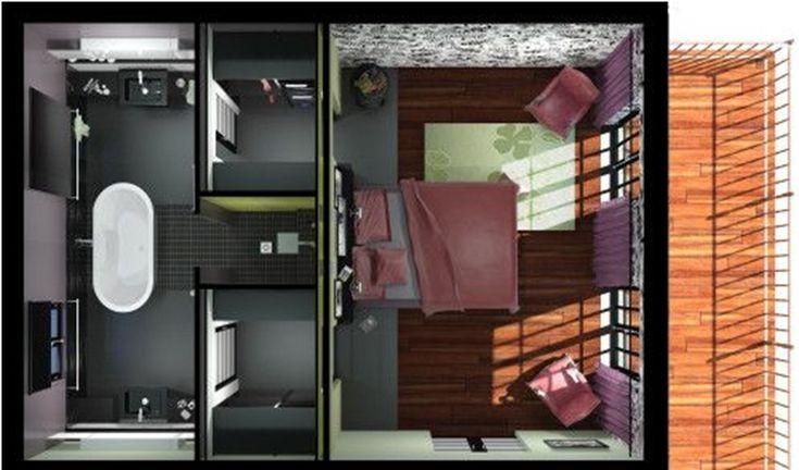 Plan chambre parentale maison suite parentale pinterest design salle - Plan chambre parentale ...
