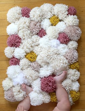 Super cute sensory rug for baby's room!