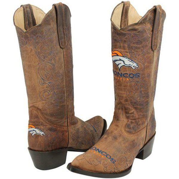 Denver Broncos Cowboy Boots
