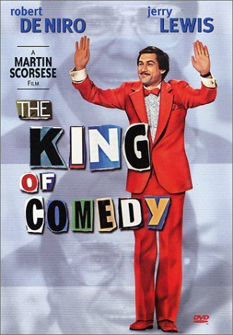 movie review - The King of Comedy a different Jerry Lewis film, co-starring Robert Deniro and Sandra Bernhard, directed by Martin Scorsese    https://famousclowns.org/jerry-lewis/jerry-lewis-movies/the-king-of-comedy/
