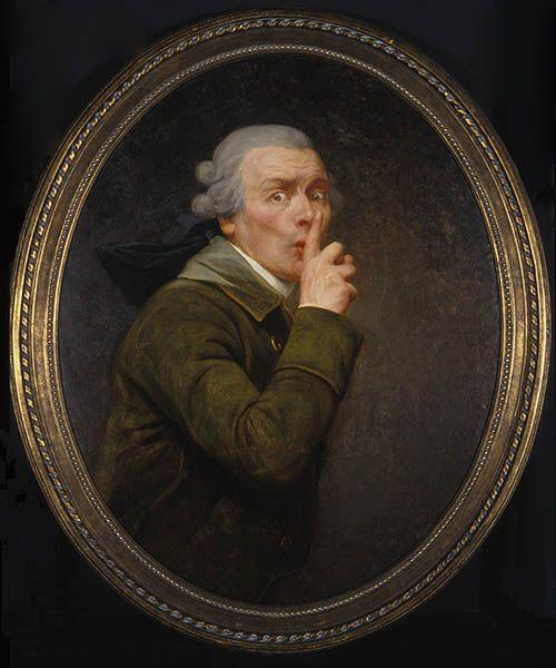 Joseph Ducreux: Le Discret  http://annabregmanportraits.co.uk/unusual-self-portraits/