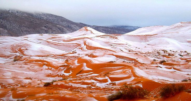Snow Falls In The Sahara For First Time In Over 37 Years