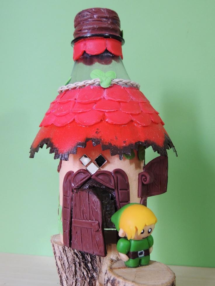 Casa de gnomo - sustentável e aconchegante,  abriga criaturas mitológicas elementais da terra que cuidam da natureza