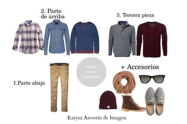 Estilo Hombres: Cómo crear conjuntos de ropa en simples pasos. Haz clic para leer el artículo http://tuasesoriadeimagen.com/2013/11/crea-conjuntos-o-looks-de-forma-facil/