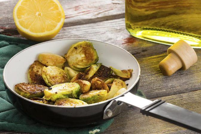 How to Blanch Brussels Sprouts and Then Saute Them in Olive Oil