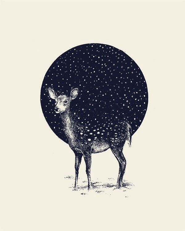Moon/deer (not by me)