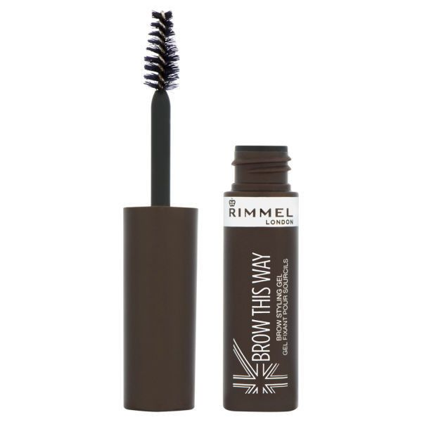 Rimmel Brow This Way Eyebrow Gel - Dark Brown ($5.69) ❤ liked on Polyvore featuring beauty products, makeup, eye makeup, beauty, fillers, eyebrow cosmetics, eye brow makeup, rimmel makeup, eyebrow makeup and brow makeup