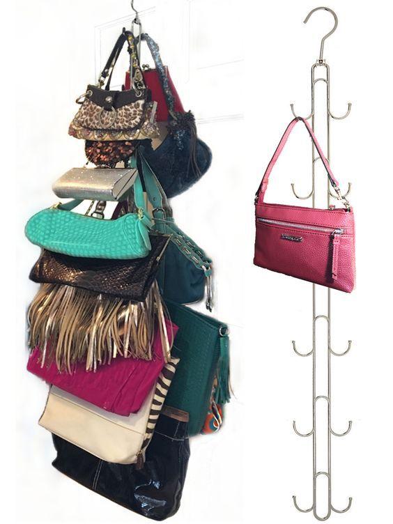 Over Door Hanging Purse & Handbag Storage- Durable, 12 Hooks, Holds 50  Pounds