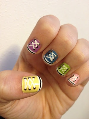 17 best ideas about sneaker nails on pinterest converse for Decoracion de unas converse