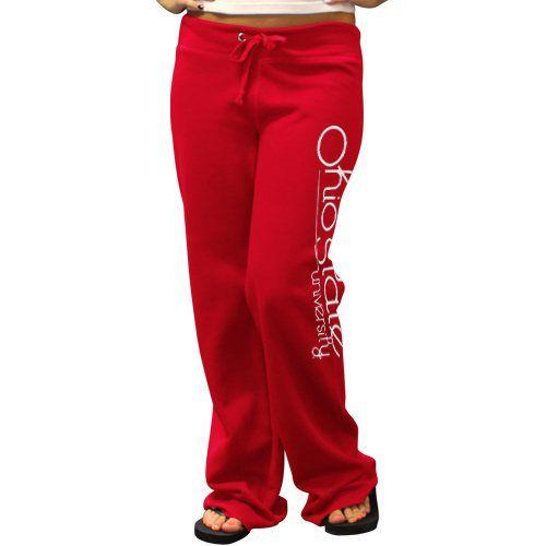 Ohio State Buckeyes Ladies Scarlet Rugby Fleece Sweatpants