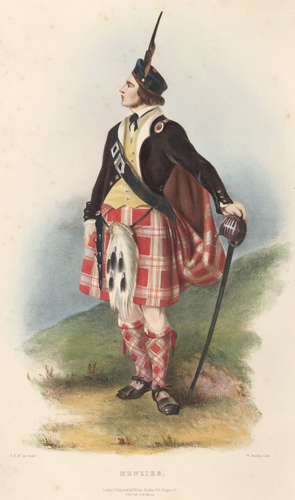 Menzies. The Clans of the Scottish Highlands | R. R. McIan