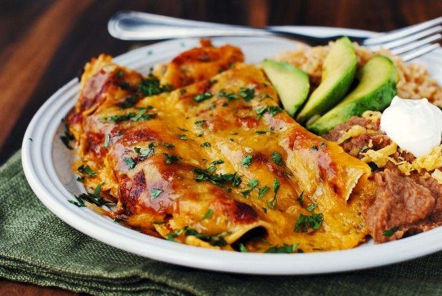 Shredded Beef Enchiladas with the BEST Homemade Red Enchilada Sauce