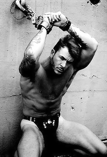 Bondage captured male
