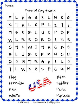 my not so elementary life happy memorial day a freebie social
