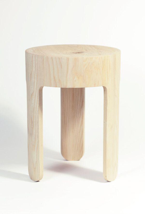 Cooper Stool – American Ash, Natural Hardwax Oil finish. http://design-milk.com/cooper-debut-collection-dome-studio/