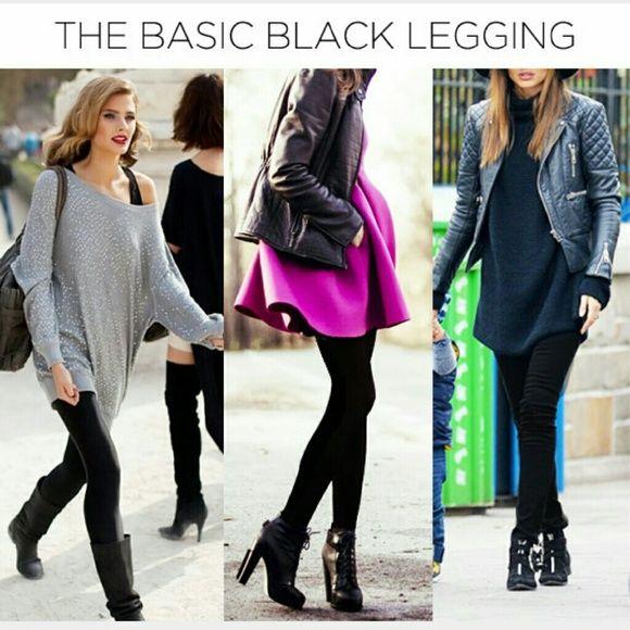 Spotted while shopping on Poshmark: 🆕 Basic thick black leggings NWOT! #poshmark #fashion #shopping #style #Pants